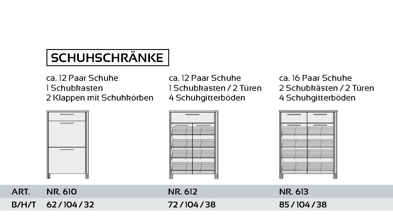 BBM Parchim, Räume, Flur + Diele , Schränke + Schuhschränke ...